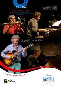 "Affiche concert ""3x2=4"" Nadja Trio HLT Trio"