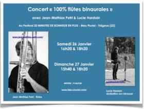 Flyer concert 100% binaural - JM petri et L. Hardouin