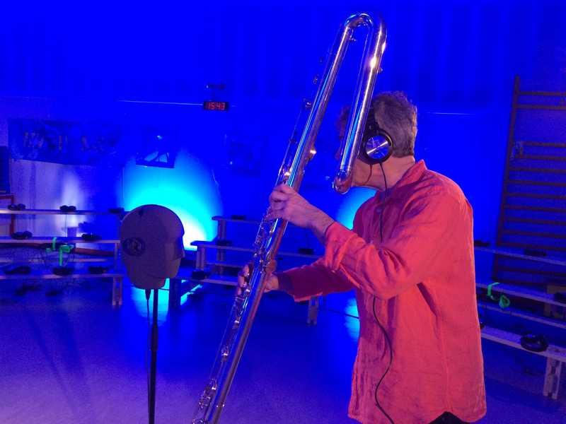 Jean-Mathias Petri, flûte octobasse et tête artificielle
